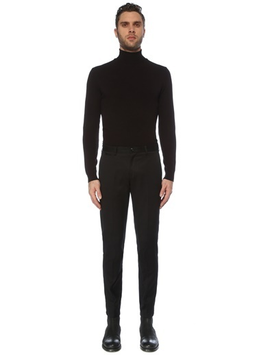 NetWork Erkek 1077261 Slim Fit Normal Bel Pantolon Siyah